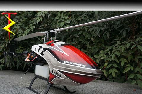 tz480油动直升机燃油航模遥控飞机烧油模型飞机
